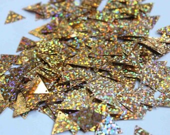 75 Metallic Copper rainbow effect Triangle shape sequins/KBTS325