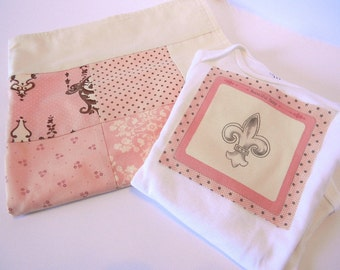 Parisian Baby Blanket-Handmade Baby Girl Blanket-Patchwork Blanket with Flannel- Paris Baby Quilt