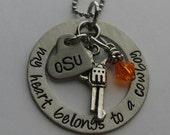 JBK My Heart Belongs to a OSU Cowboy necklace