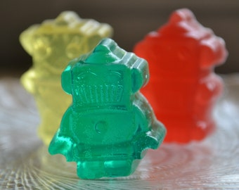 Kids Soap - Rockin Robot Soap - Childrens Soap - Kids Soap - Birthday Party Favor - Toy - Novelty Soap - Fun