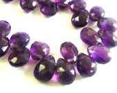 Amethyst Pear Briolette,  Faceted Amethyst, 3 MATCHED PAIRS,  6 Pcs, High Quality, Brides, Feburary Birthstone, 9x6mm