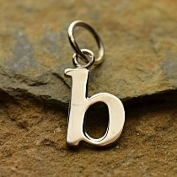 Silver Letter B: Sterling Silver Letter B Typewriter Lowercase