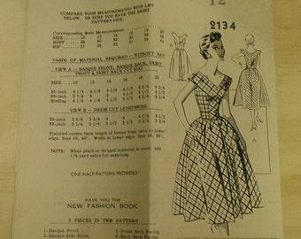 Dress Princess Seam Rock a Billy Mail Order 12 Pattern 2134