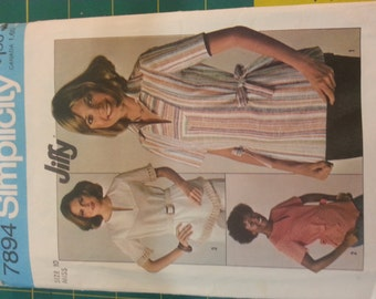 1970s Tunic Top with hem variations10 Simplicity 7894