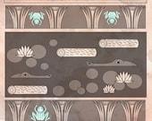 Frog Stela - Egyptian style Frogger inspired Illustration
