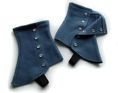 SALE! Slate Short Spats (Unlined) - One Size Fits Most