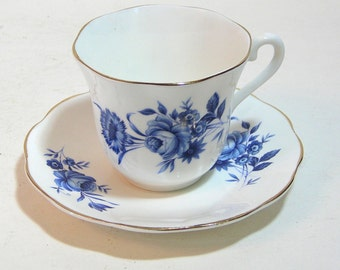 Taylor And Kent Elizabethan English Fine Bone China Teacup And Saucer