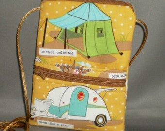 Passport Purse - Sling Bag - Small Mini Purse - Wallet on a String - Camping - Glamping - RV - Teardrop Camper