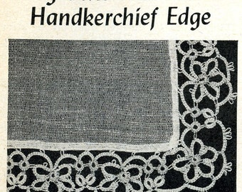 Vintage Tatting PATTERN 5805 for Tatted For get me not edge taken from 1950s Workbasket PDF instant Download