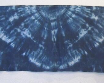 Silk Veil for Bellydance  3 Yards  Silk Evening Wrap Silk Sarong- Midnight Blue