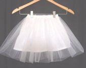 Girls and Baby Cotton and Tulle Petticoat, Size 12 month, 18 month, 2/3, 4, 5/6, 7/8, slip, crinoline, pettiskirt, wedding, flower girl