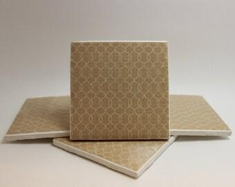 "4 Pack - 4x4"" Handmade Personalized Decor Coasters -- Design or Custom Photo Print!"