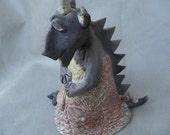 raku dragon clay sculpture magical