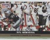 1991 NFL BO JACKSON Pro Set Newsreel Football Card