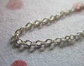 Sterling Silver Cable Chain, 2x1.5 mm, thick, heavy weight Necklace Chain / 1-250 feet, 10-25% less, wholesale, SS S201 solo hp