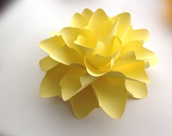 Paper flower for gifts, weddings or placesetting Large 9 inch