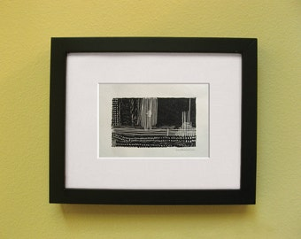 """Giclée Print of an Original Linocut Monoprint: Paths 02 - """"Thoughts"""""""
