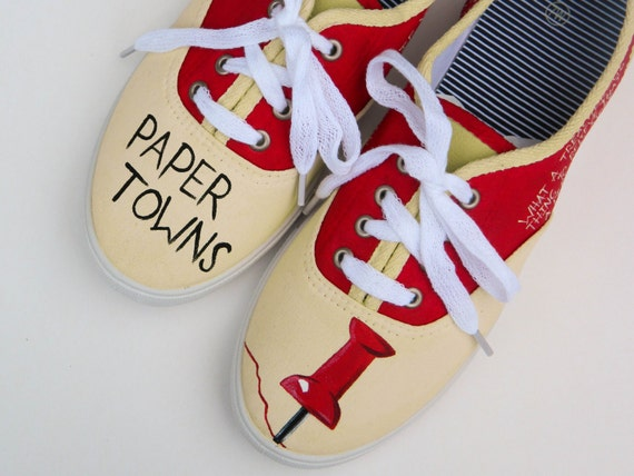 Paper Towns Book Cover Drawings ~ Paper towns painted shoes custom quotes fandom fan