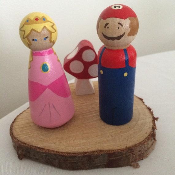 Mario And Princess Peach Wedding Cake Topper Nerd By ShaesBridal