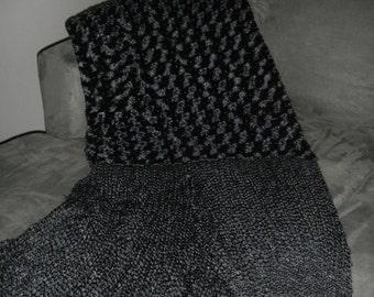 Throw Black Rosette   MARK DOWN SALE