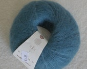 Mohair Silk Yarn in Teal Kidsilk Haze