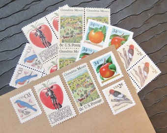 Orchard .. UNused Vintage Postage Stamps  .. post 5 letters