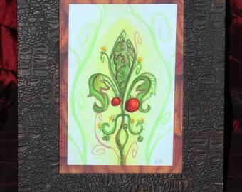 Creole Tomato Fleur de Lis original watercolor framed New Orleans