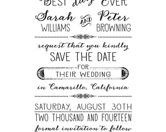 Best Day Ever Save the Date Stamp