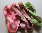 Crab Apple Mix - 4 metres of 13mm silk ribbon