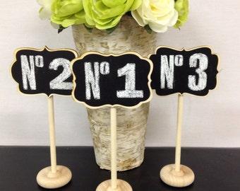 NEW Mini Chalkboard Stands Grace, Camden, Braden STYLE - Hostess Gift, Wedding Chalkboards, Rustic, Buffet Labels