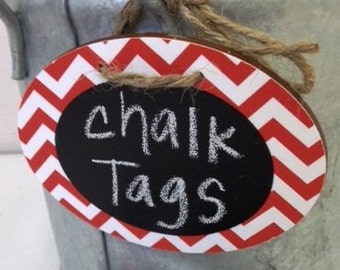 6 Chevron Chalkboard Tags with Chalkboard Labels, Basket Labels, Gift Tags, Wedding Chalkboards