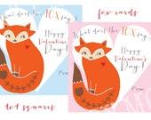 Printable Fox Cards