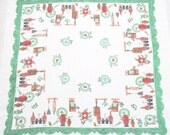 Vintage Print Tablecloth Kitchen Theme Condiments