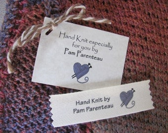 popular items for knitting label on etsy With knitting name tags