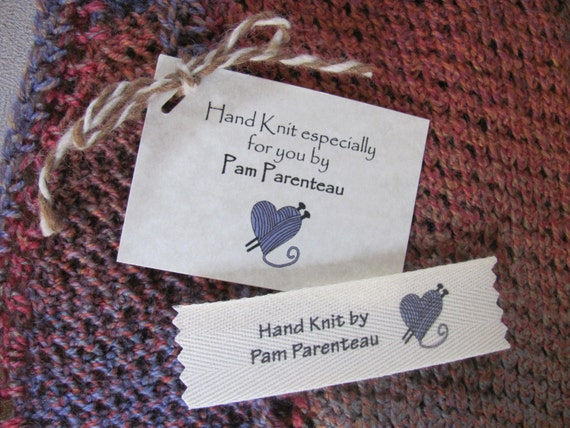 Knitting Labels Personalized : Clothing labels knitting tags