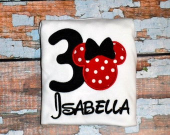 Girls Minnie Mouse Birthday Shirt, Girls Birthday Shirt, Disney Birthday Shirt