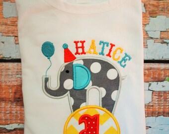 Elephant  Birthday Shirt, Carnival Birthday Shirt, Circus Birthday Shirt, Boys Birthday Shirt