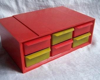 Vintage 1970s Akro Mils Mid Century Modern Storage Cabinet