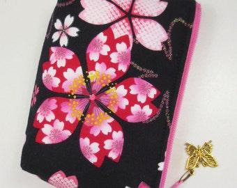 Sakura Coin Purse/ Zipper Pouch