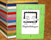 """Colored 3x3, 4x4, 4x6, 5x5 or 5x7 Picture Frame, weathered photo frame, in our """"Colored Barn wood"""" Grasshopper or choose color 1.5"""" wide"""