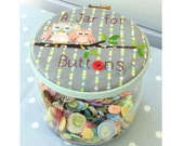 A Jar for Buttons pdf pattern - instant download