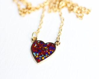 Sample Sale - Confetti Heart Necklace