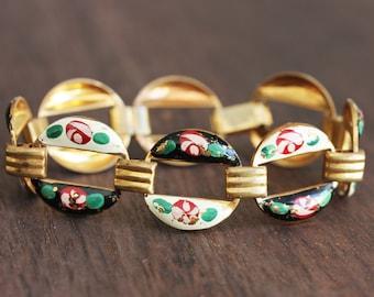 1950s Painted Rose Bracelet