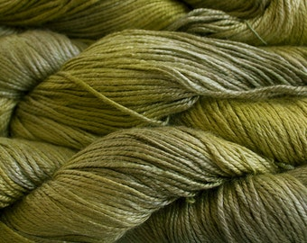 Silk Bamboo, Hand painted yarn, 225 yds - Leaf