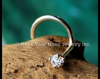 2mm Diamond Style Nose Stud/Sterling Silver Nose Stud /Dainty/24G Nose Stud / 22G Nose Stud /20G Nose Stud / 18G Nose Stud - CUSTOMIZE