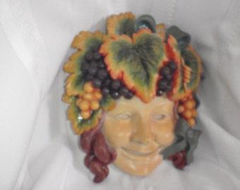 Vintage Mask 1960 kitchen wall Mask decoration for Halloween
