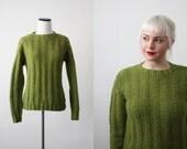 vintage 1960s avocado sweater