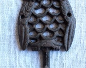 Lovely Hand Painted Iron Owl Hook