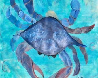 Blue Crab Fabric from my original artwork.