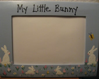 Happy Easter My little bunny family picture photo frame